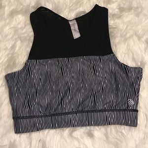 6289170632245 MPG mesh cutout striped sports bra sz S